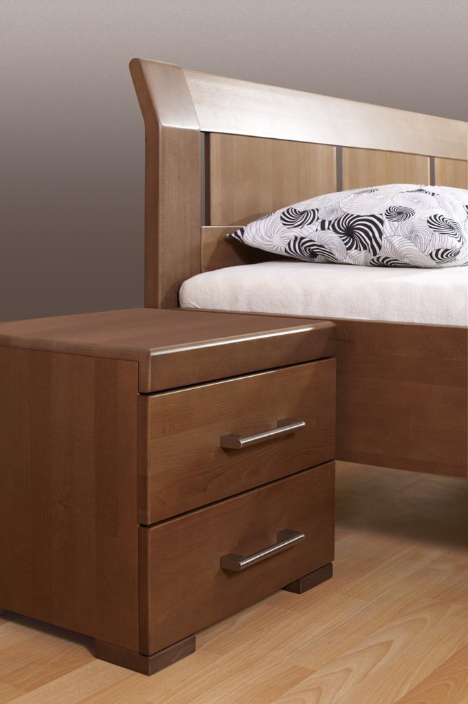 Noční stolek Livia - 2 zásuvky buk - Mireal