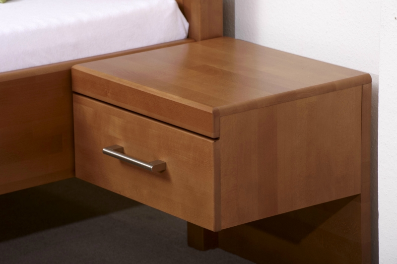 Noční stolek Cathrin buk - BUK - Mireal