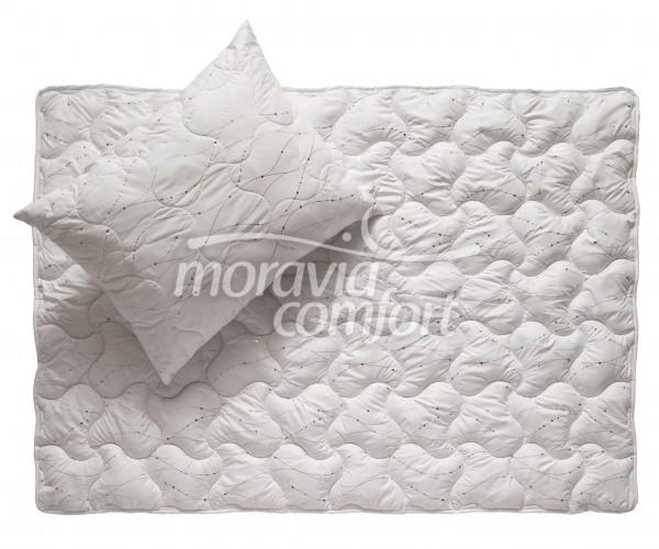 Přikrývka Metallic White - 140 x 200 cm - Moravia Comfort