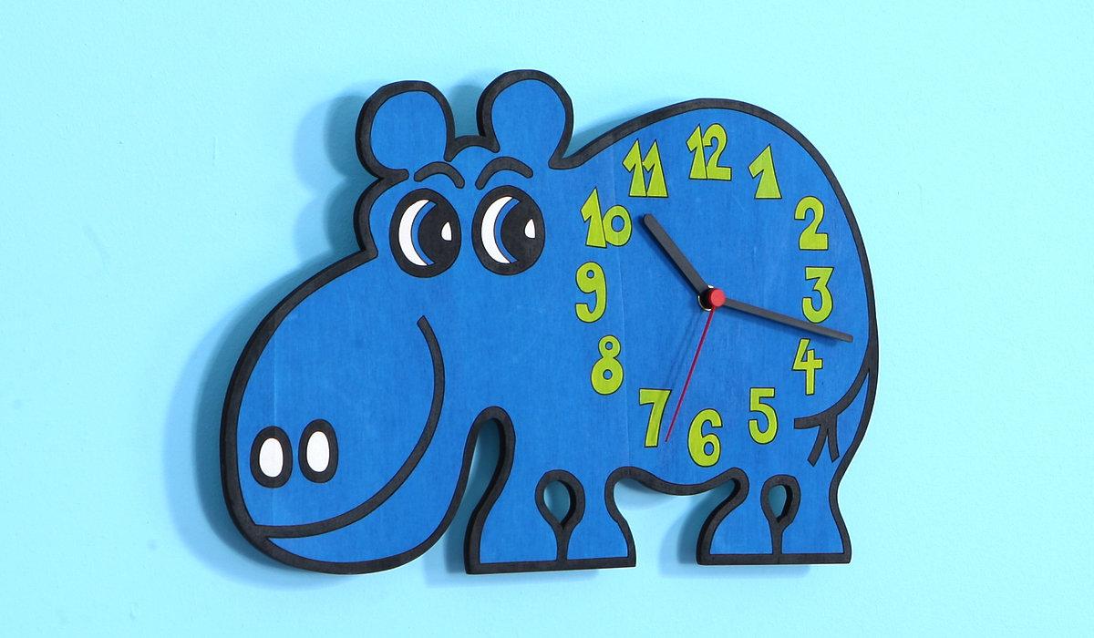 Dětské hodiny hroch - hodiny hroch - Domestav